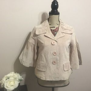 Karen kane genuine suede jacket